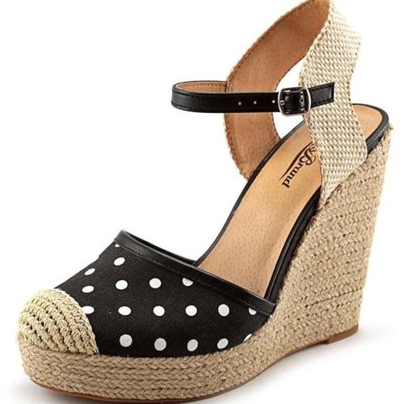 ad4b80d8572 Lucky Brand Shoes - Lucky Brand Reandra Polka Dot Espadrille Wedges